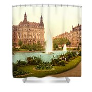 Der Deutsche Ring-cologne-the Rhine-germany -  Between 1890 And  Shower Curtain