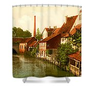 Der Gross Venedig-hildesheim-hanover -germany -  Between 1890 An Shower Curtain