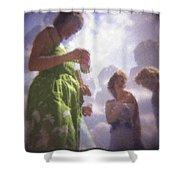 Derby People 1 Pastel Chalk 2 Shower Curtain