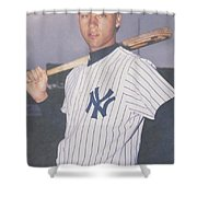 Derek Jeter New York Yankees Shower Curtain