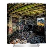 Derelict Cottage Shower Curtain by Adrian Evans