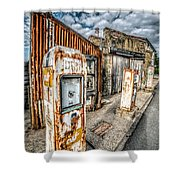 Derelict Gas Station Shower Curtain by Adrian Evans