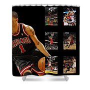 Derrick Rose Shower Curtain