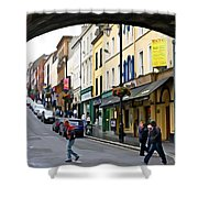 Derry Life - Irish Art By Charlie Brock Shower Curtain
