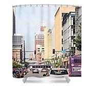 Des Moines Iowa 13th Street Shower Curtain