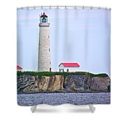 Des-rosiers Lighthouse Is Canada's Tallest In Forillon Np-qc Shower Curtain