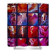 Descent Into Heaven Assemblage In Lower Antelope Canyon In Lake Powell Navajo Tribal Park In Page-az Shower Curtain