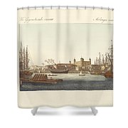 Description Of The Tower Of London Shower Curtain
