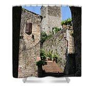 Desert Alley In San Gimignano Shower Curtain