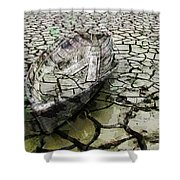 Desert Boat Shower Curtain