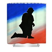 Desert Duty II Shower Curtain by Alys Caviness-Gober