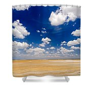 Desert Flatlands Shower Curtain
