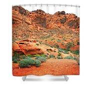 Desert Hiking Among The Sandstones Shower Curtain