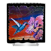 Desert Hummingbird Shower Curtain