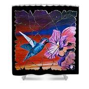 Desert Hummingbird Shower Curtain