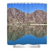 Desert Lake Stillness Shower Curtain