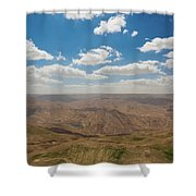 Desert Landscape By The Tannur Dam Shower Curtain