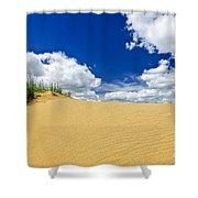 Desert Landscape In Manitoba Shower Curtain