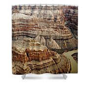 Desert Layers Shower Curtain