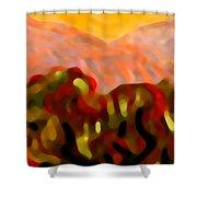 Desert Olive Trees Shower Curtain
