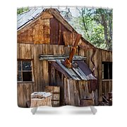 Desert Outback Farm Building Shower Curtain