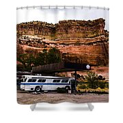 Desert Pit Stop Shower Curtain