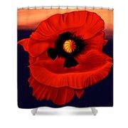 Desert Poppy Shower Curtain