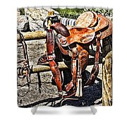 Desert Rider Shower Curtain