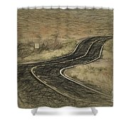 Desert Road Shower Curtain
