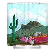 Desert Roadster 34 Ford Shower Curtain