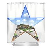 Desert Star Shower Curtain