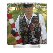 Desert Storm Veteran Peart Park Casa Grande Arizona 2006 Shower Curtain