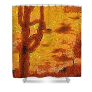 Desert Sunset Photo Art 04 Shower Curtain