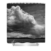 Desert Thunderstorm Shower Curtain