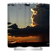 Desert Thunderstorm - Marfa Texas Shower Curtain