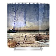 Desert Tracks Shower Curtain