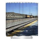 Desert Train Shower Curtain