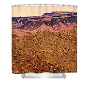 Desert View In Arizona By The Colorado River Shower Curtain