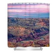 Desert View Sunset Shower Curtain