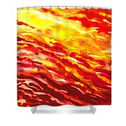 Desert Wind Abstract I Shower Curtain