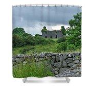Deserted Building In Ireland Shower Curtain