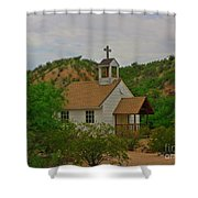 Deserted Church Shower Curtain