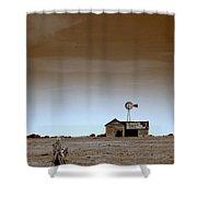 Deserted Farmhouse Shower Curtain