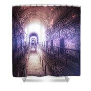 Deserted Prison Hallway Shower Curtain