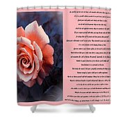 Desiderata Coral Rose Sidebyside Shower Curtain
