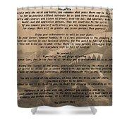 Desiderata Military Shower Curtain