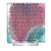 Desiderata On Abstract Heart Watercolor Shower Curtain