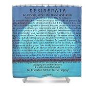 Desiderata On Blue Moon Sunset Shower Curtain