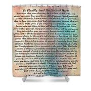 Desiderata On Grand Canyon Watercolor Shower Curtain