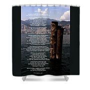 Desiderata On Lake View Shower Curtain